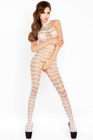 CROSSED OUT BODYSTOCKING WHITE