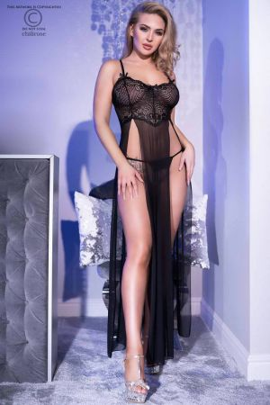 LACE OPENGOWN BLACK