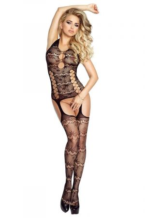 STARRY NIGHT SEAMLESS HALTER  BODYSTOCKING