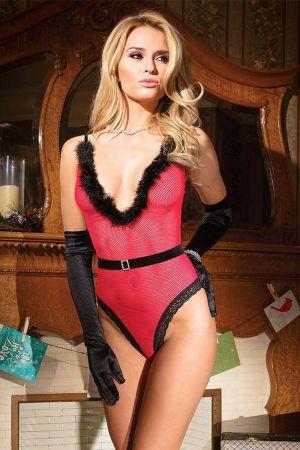 CHRISTMAS TEDDY RED